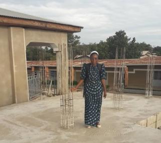 Sr Agnes 2 on roof Feb 2019